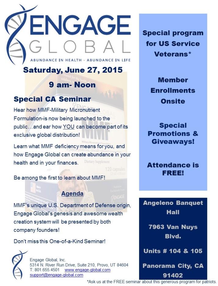 Flyer for LA June 27