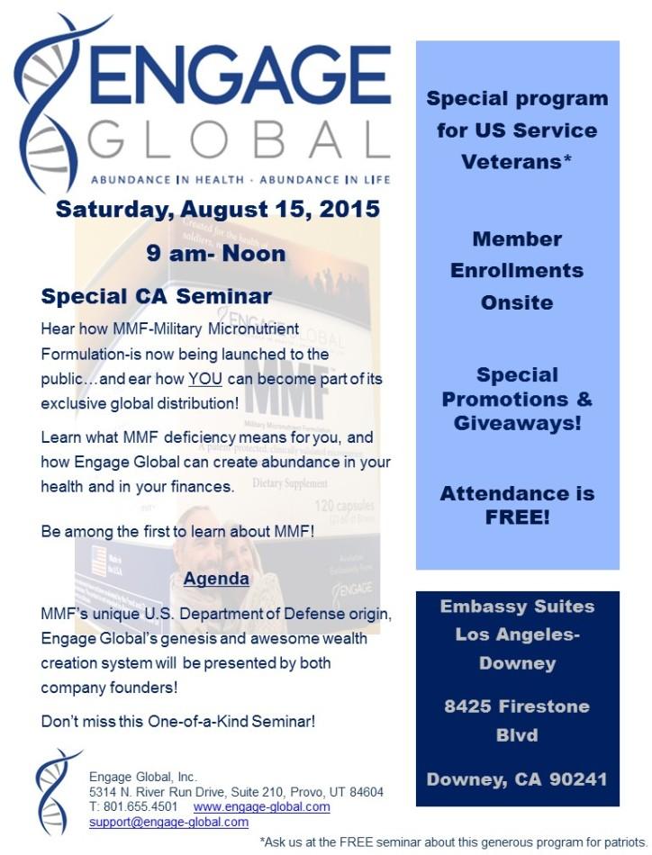 Flyer for LA Aug 15