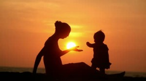 stock-footage-silhouette-of-carefree-mother-and-daughter-over-sunset-300x168